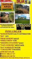 ANT  KONYAALTI GEYİKBAYIRINDA SATILIK 305 M2 ARSA