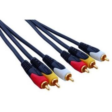 3 RCA-3 RCA Kablo 10 Metre, 87,57 ₺