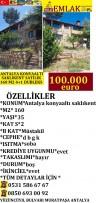 KONYAALI SAKLIKENT DE SATILIK 160 M2 4+1 DUBLEKS, 100,000 £