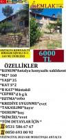SAKLIKENT DE KİRALIK EŞYALI  160 M2 4+1 DUBLEKS, 6,000 ₺