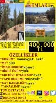 MANAVGAT SEKİDE SATILIK 500 M2 KONUT ARSASI